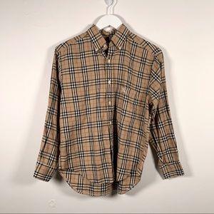 Burberry Nova Check Button Up Shirt Vintage